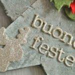 Natale decorazione stella legno buone Feste oro