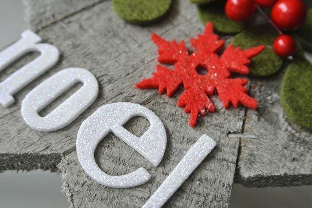Natale stella Noel legno
