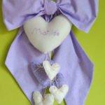fiocco nascita cuori lilla