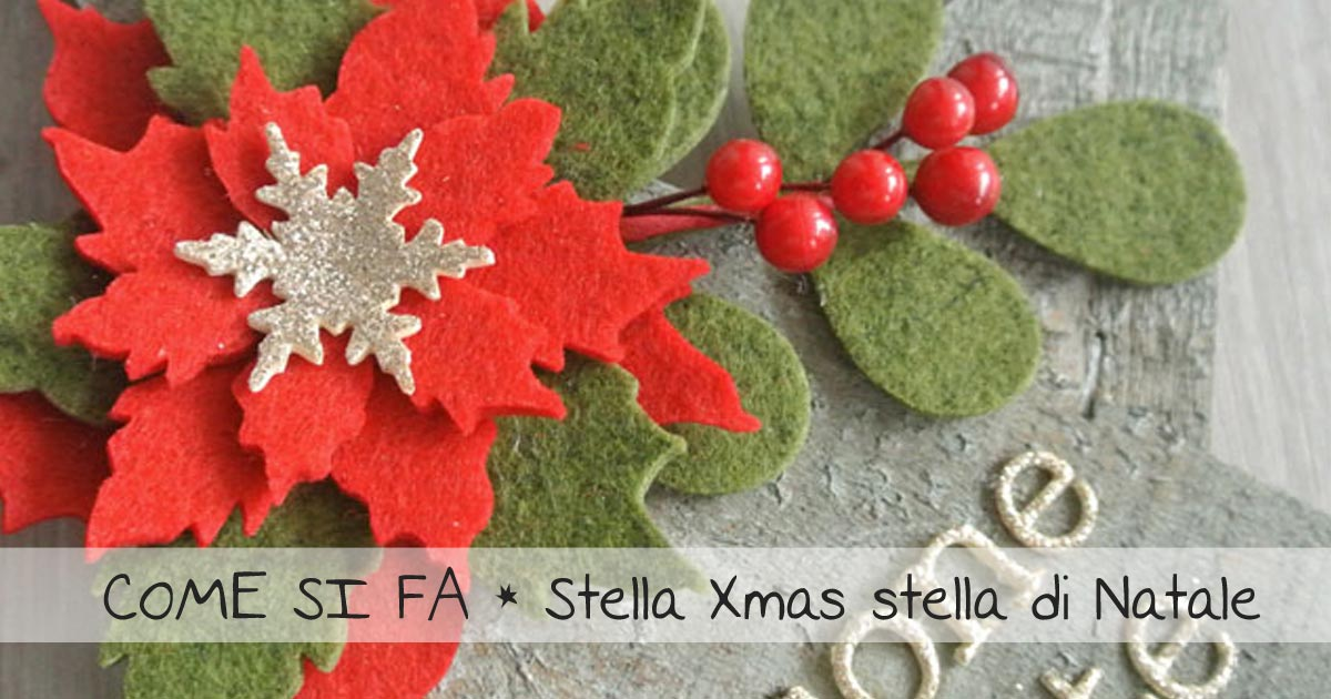 decorazioni Natale stella in legno con decorazioni feltro