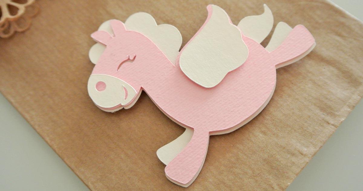 sacchetto portaconfetti carta kraft avana unicorno