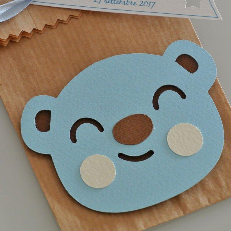 sacchetto carta kraft con orsetto