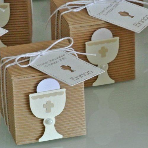 Bomboniera Prima Comunione scatola con calice