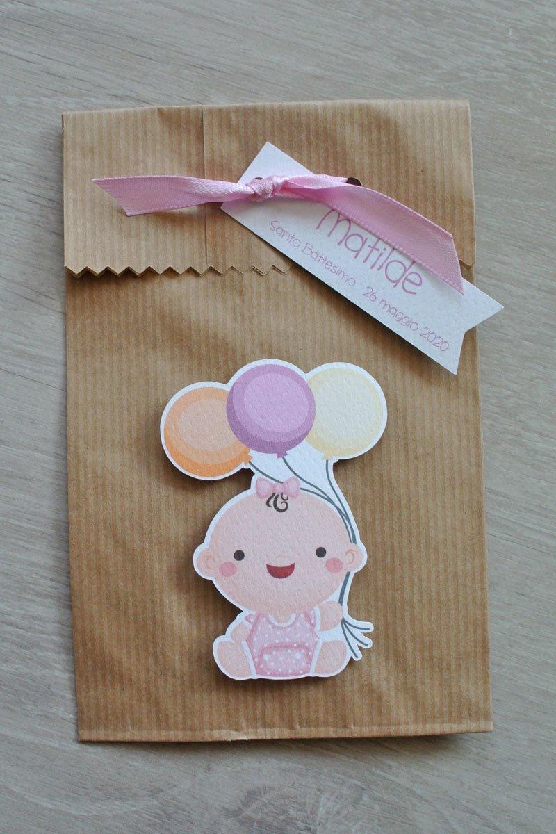 sacchetto porta confetti carta neonato