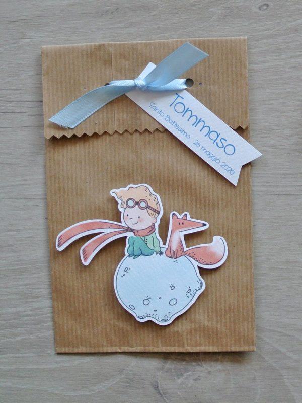 sacchetto portaconfetti carta piccolo principe