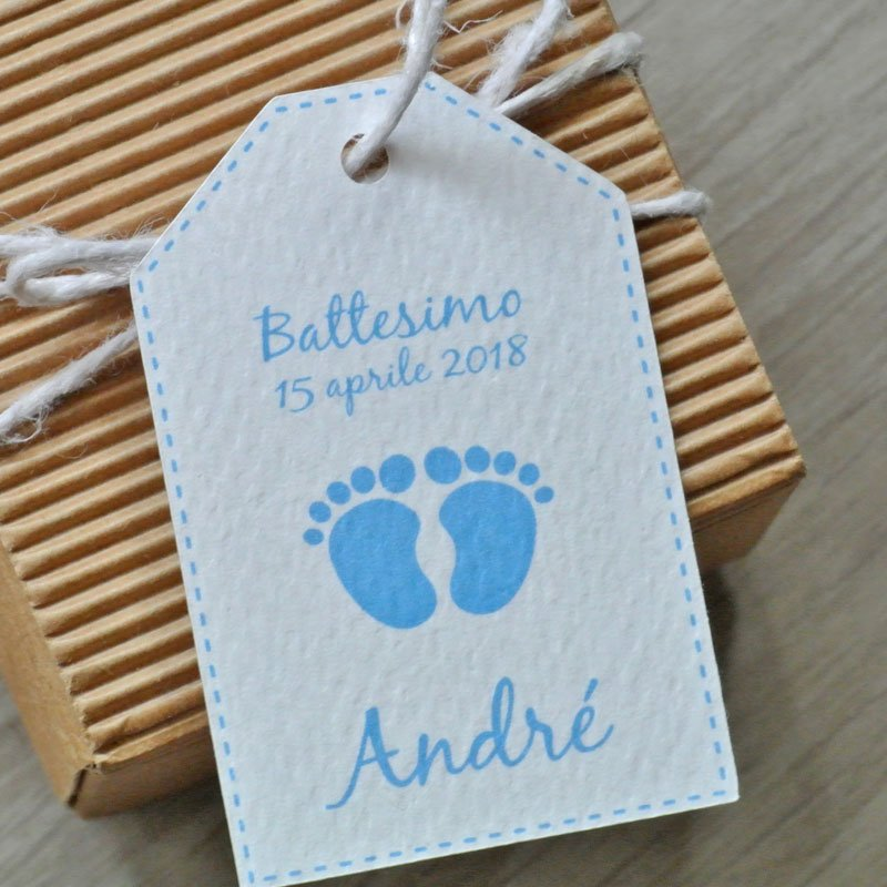 tag nascita battesimo piedini