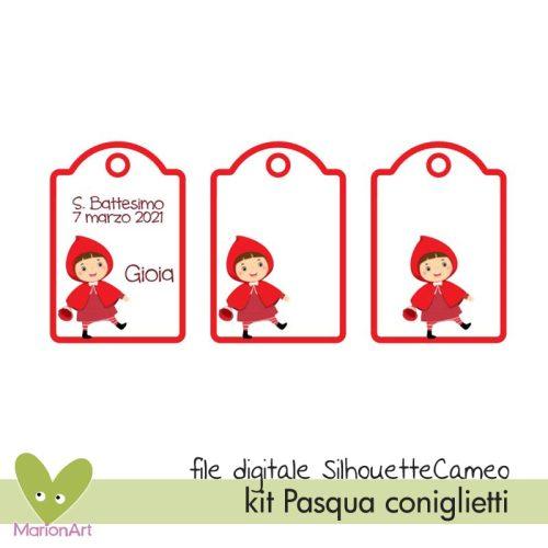 file silhouette cameo tag cappuccetto rosso